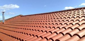 Neatly tiled roof